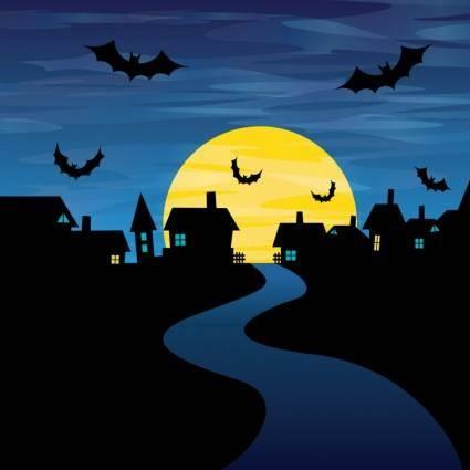 free vector Halloween Night Vector