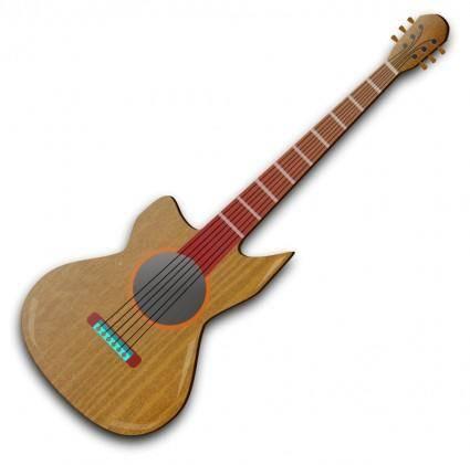 free vector Wooden Guitar