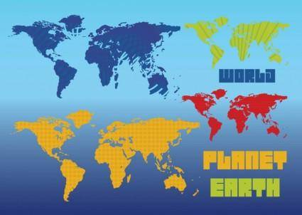 free vector Planet Earth Vector Maps