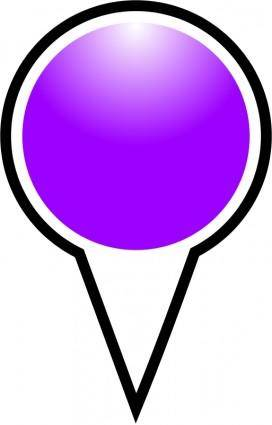 free vector Squat-marker-purple