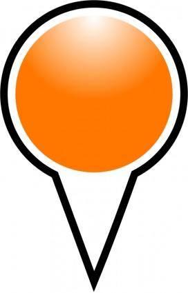 free vector Squat-marker-orange