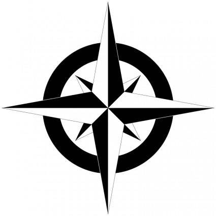 Compass Rose B&W