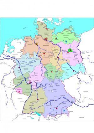 Political map of Germany 2
