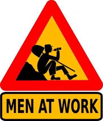 free vector Men at work