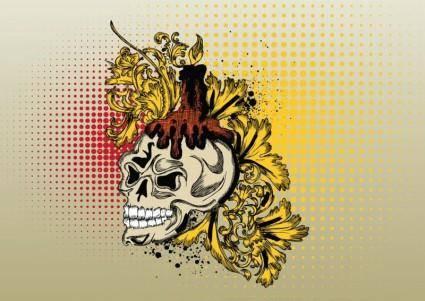free vector Vector Skull Print Graphics