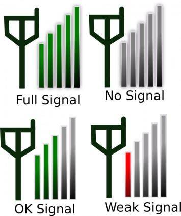 free vector Signal Strength Icon for Phone