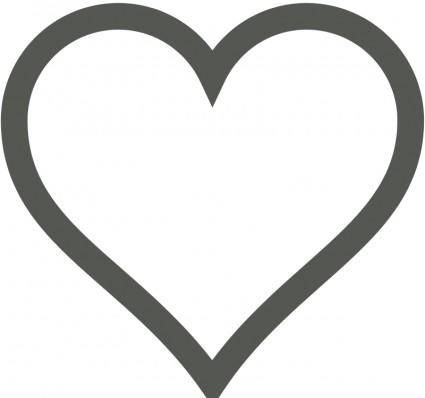 free vector Heart Icon (Deselected)