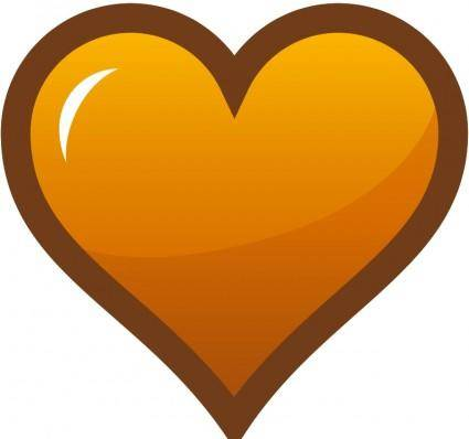 free vector Orange Heart Icon