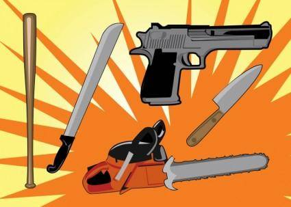 free vector Murder Weapons Vector Graphics