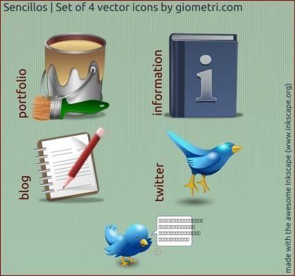 free vector Sencillo 4 vector icons