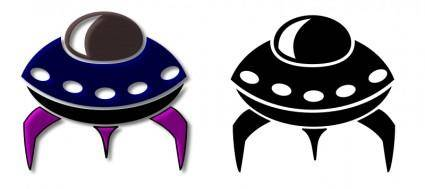 free vector Alien Spaceship Icon