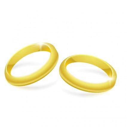 free vector Gold Rings