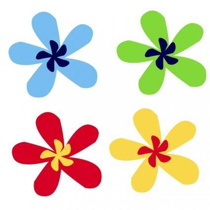 free vector Rainbow flower