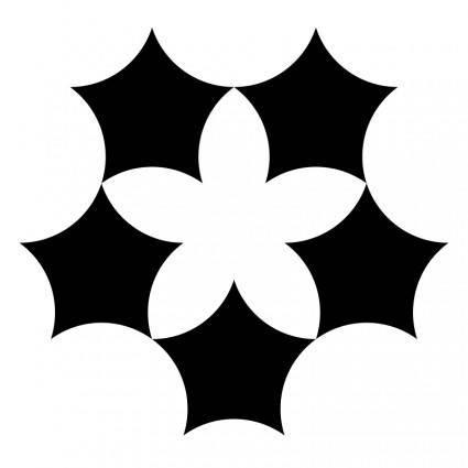 free vector Pentaflower