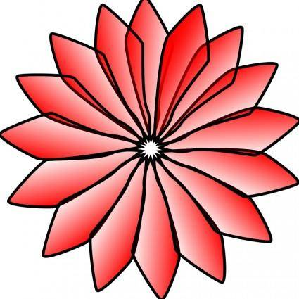 free vector Red Flower