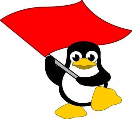 Tux bandera