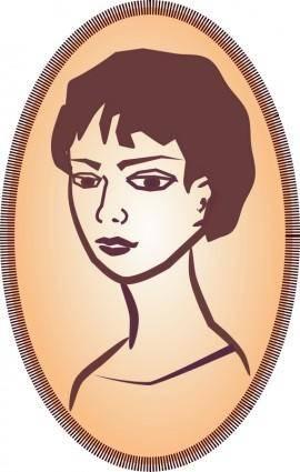 free vector Woman's portrait