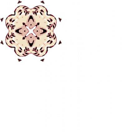 Kopf Muster 34 stilisiert B