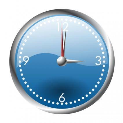 free vector A blue and chrome clock