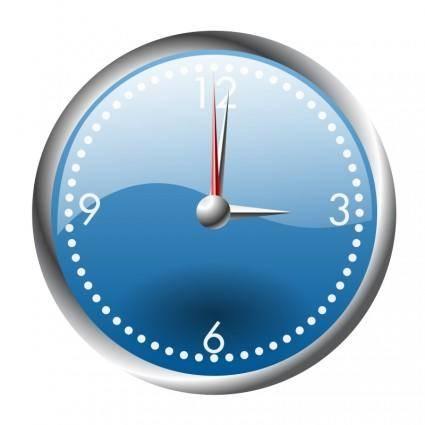 A blue and chrome clock
