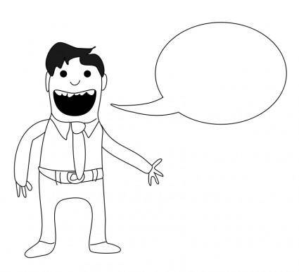 free vector Man with speech bubble