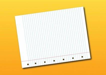 free vector Notebook Page Vector