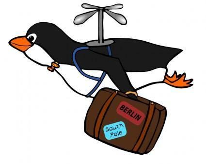 free vector Migrating Penguin