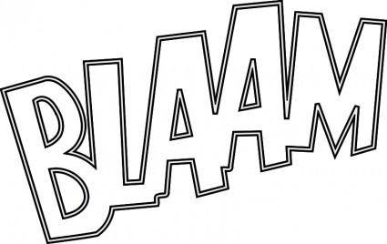 free vector BLAAM outlined