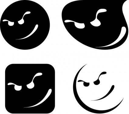 free vector Cool Smileys Cartoon Faces