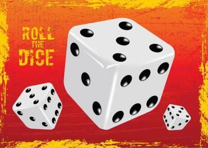 free vector Gambling Dice Vector