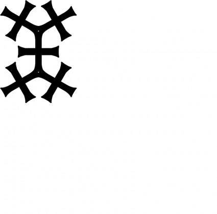 free vector Tatzenkreuz Muster1