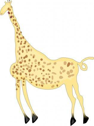 free vector Rock Art Acacus Giraffe - Colored