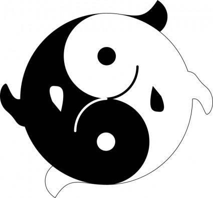 free vector Fishyin Fishyang