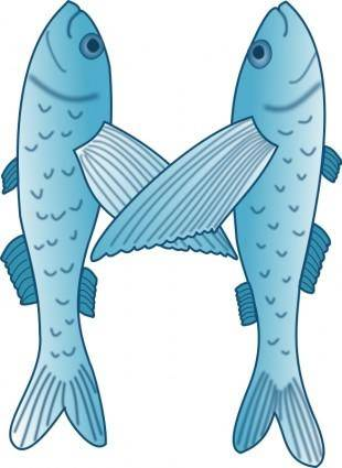 free vector Fish forming letter M