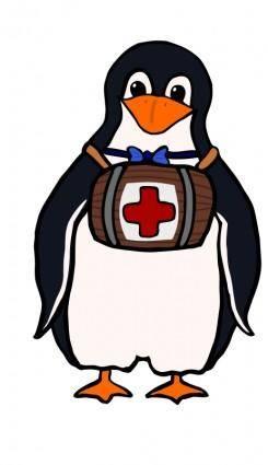 free vector St. Bernard's Penguin