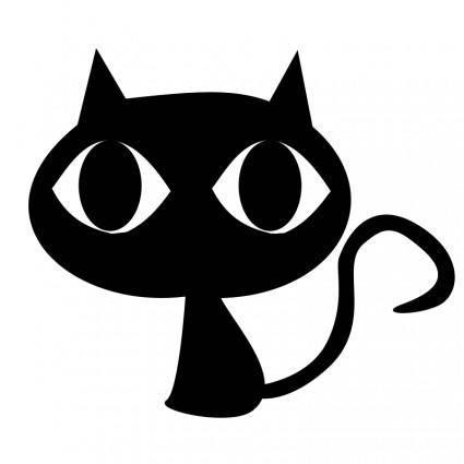 free vector Black cat