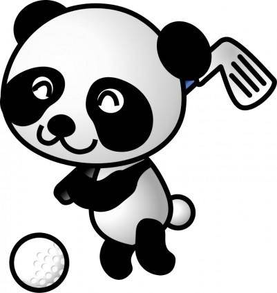 free vector Golf panda
