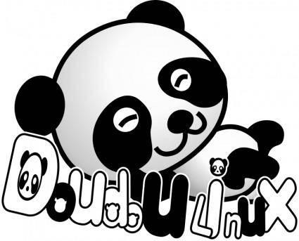 free vector Doudoulinux panda