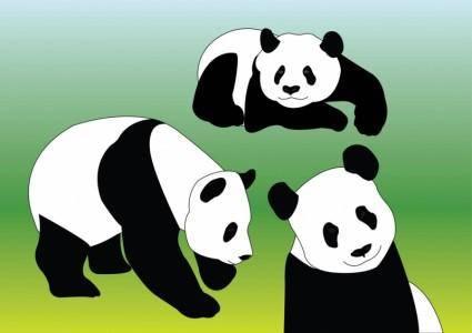 free vector Panda Vectors