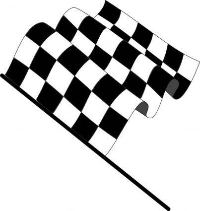 free vector Wavy checkered flag