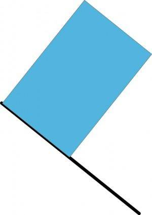 free vector Blue flag
