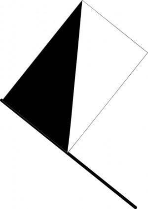 free vector Half black flag