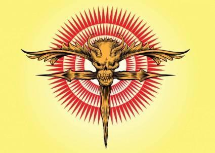free vector Skull Cross Vector Artwork