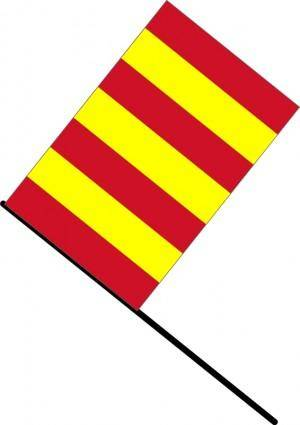 Yellow/red stripped flag