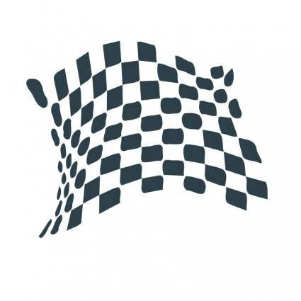 free vector Chequered flag abstract icon