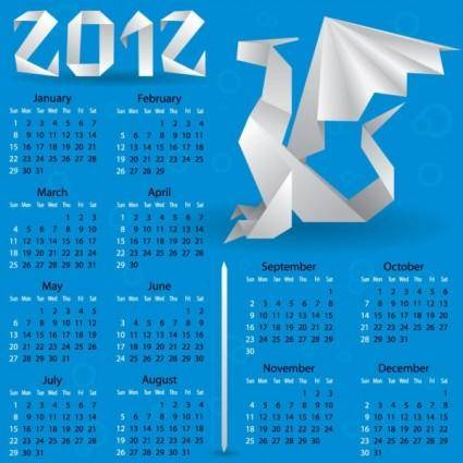 free vector Calendar 2012 calendar 04 vector