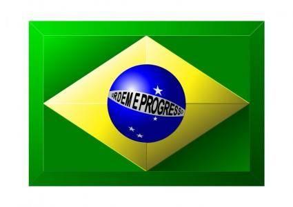 free vector 3D Brazilian Flag