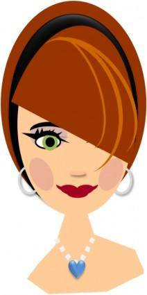 free vector Lady with red hair