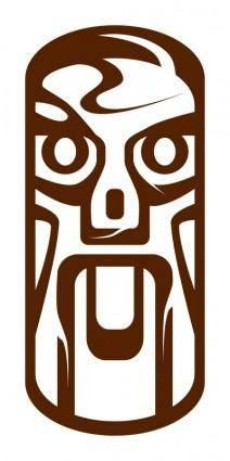 free vector Weird Tiki Face