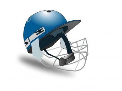 free vector Cricket helmet by netalloy